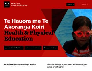 health.tki.org.nz screenshot
