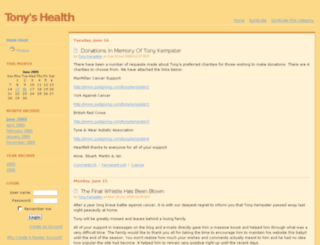 health.tonykempster.co.uk screenshot
