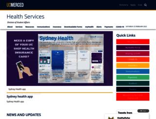 health.ucmerced.edu screenshot