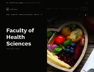 health.uottawa.ca screenshot