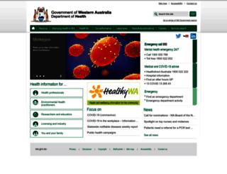 health.wa.gov.au screenshot