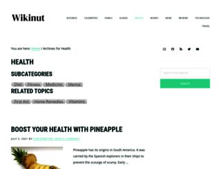 health.wikinut.com screenshot