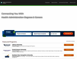 healthadministrationdegrees.com screenshot