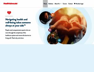 healthadvocate.com screenshot