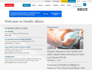 healthaffairs.org screenshot