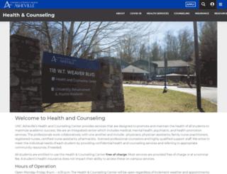 healthandcounseling.unca.edu screenshot