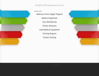healthandfitnessnewswire.com screenshot