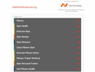 healthandfitnessnow.org screenshot