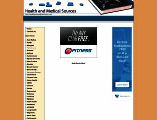healthandmedicalsources.com screenshot