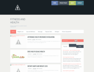healthandnewfitness.blogspot.com screenshot