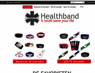 healthband.nl screenshot