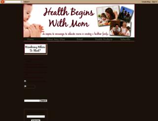 healthbeginswithmom.blogspot.com screenshot