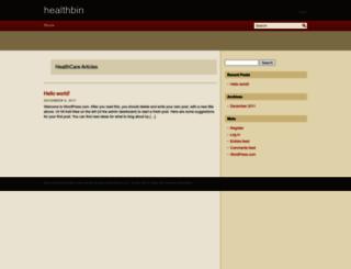 healthbin.wordpress.com screenshot