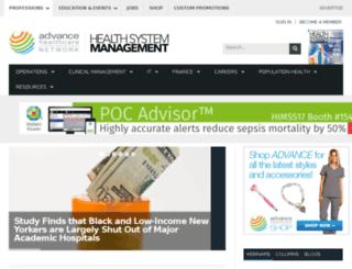 healthcare-executive-insight.advanceweb.com screenshot