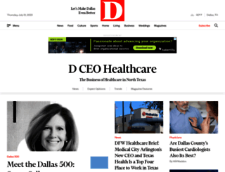 healthcare.dmagazine.com screenshot