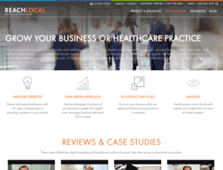 healthcare.reachlocal.com screenshot