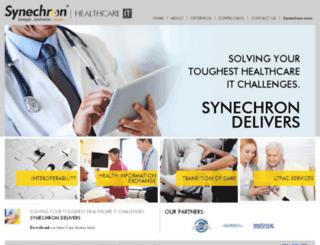 healthcare.synechron.com screenshot