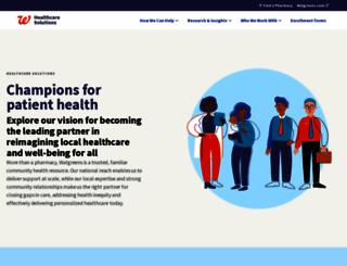 healthcare.walgreens.com screenshot