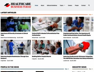 healthcarebusinesstoday.com screenshot