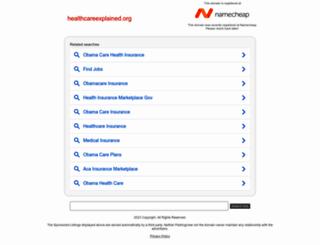 healthcareexplained.org screenshot