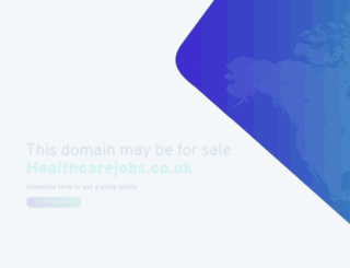 healthcarejobs.co.uk screenshot