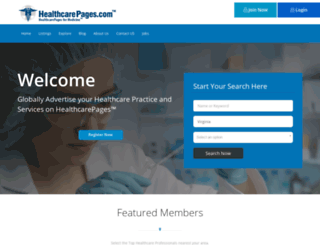 healthcarepages.com screenshot