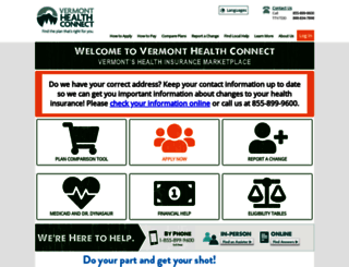 healthconnect.vermont.gov screenshot