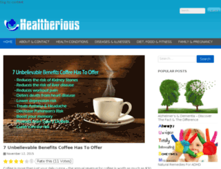 healtherious.com screenshot