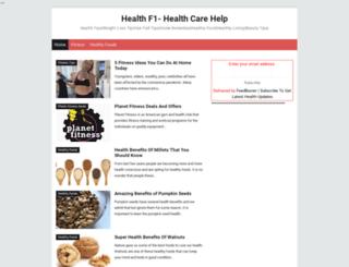 healthf1.com screenshot