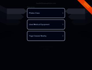 healthfitnessarticle.com screenshot