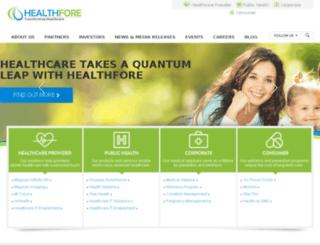 healthfore.com screenshot
