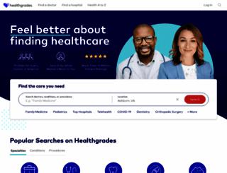 healthgrades.com screenshot