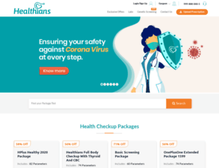 healthians.com screenshot