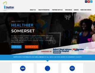 healthiersomerset.org screenshot