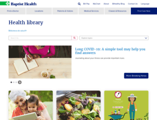 healthinfo.baptist-health.com screenshot