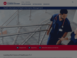healthinformaticsdegree.uic.edu screenshot