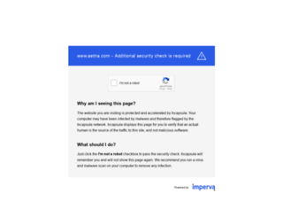 healthinsurance.aetna.com screenshot