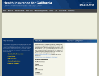 healthinsurancecal.com screenshot