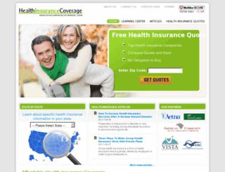 healthinsurancecoverage.com screenshot