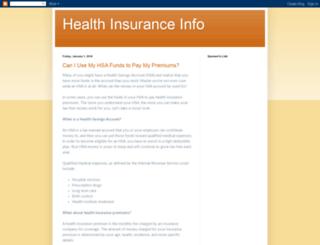 healthinsuranceinfo4you.blogspot.com screenshot