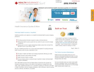 healthinsurancesort.com screenshot