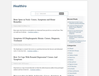 healthiro.com screenshot