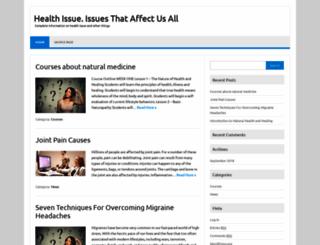 healthissue.info screenshot