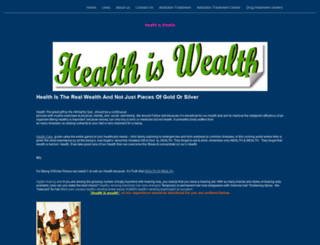healthiswealthyolasite.yolasite.com screenshot