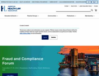 healthlawyers.org screenshot