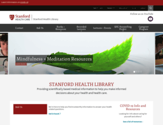 healthlibrary.stanford.edu screenshot