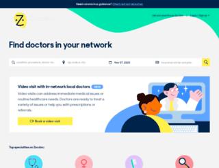 healthmarketplace.zocdoc.com screenshot