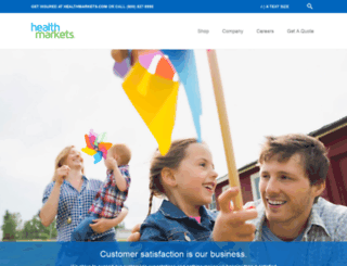 healthmarketsinc.com screenshot