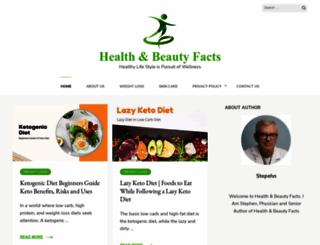healthnbeautyfacts.com screenshot