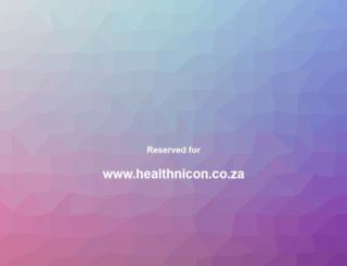 healthnicon.co.za screenshot